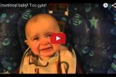 お母さんの歌に涙する赤ちゃん。キュンとなります。。