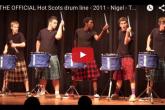 すんごいドラムパフォーマンス:Hot Scots drum line